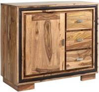 Indian Hub Jodhpur Sheesham 1 Door 3 Drawer Medium Sideboard