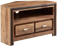 Indian Hub Jodhpur Sheesham 2 Drawer Corner TV Unit