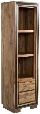 Indian Hub Jodhpur Sheesham 2 Door Slim Bookcase