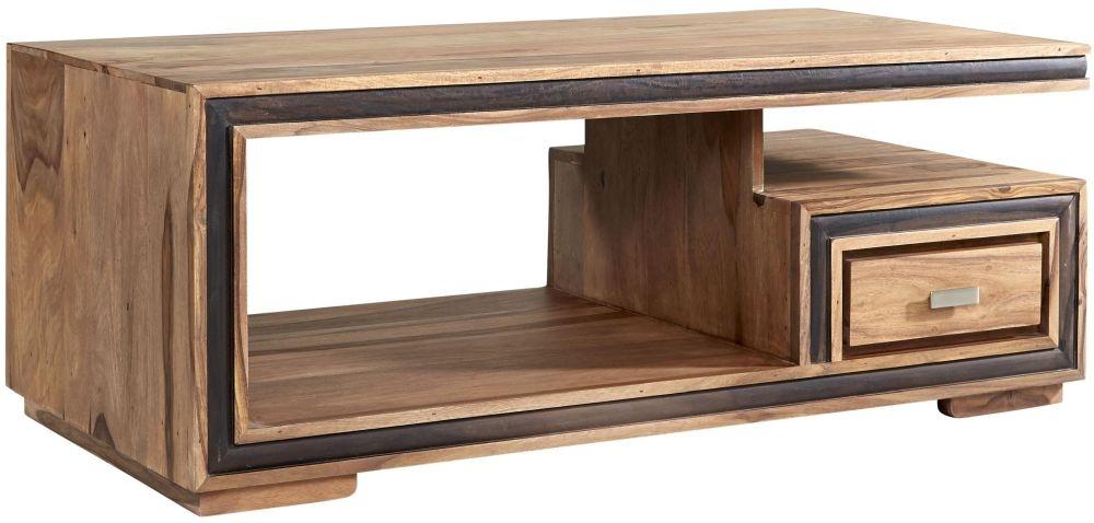 Indian Hub Jodhpur Sheesham 1 Drawer Storage Coffee Table