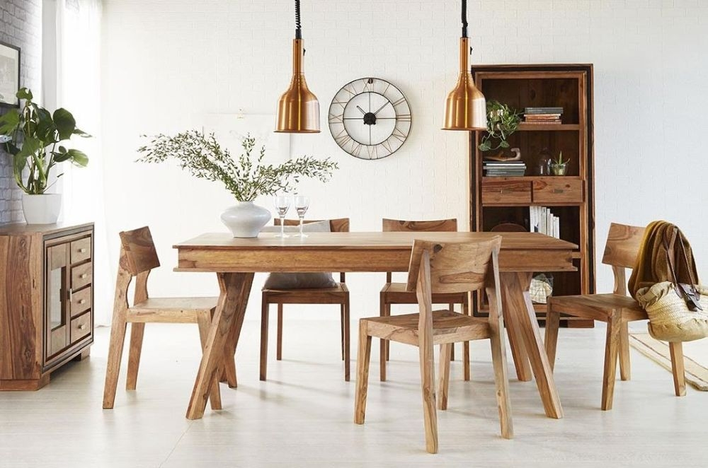 Indian Hub Jodhpur Sheesham Dining Table and 4 Chair