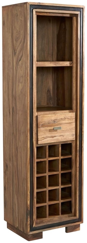 Indian Hub Jodhpur Sheesham Wine Bookcase
