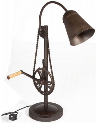Indian Hub Cycle Chain Table Lamp Stand