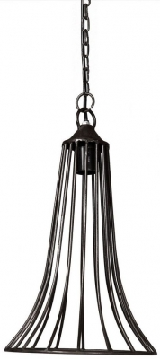 Indian Hub Iron Cone Cage Hanging Lamp