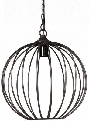 Indian Hub Iron Sphere Cage Hanging Lamp