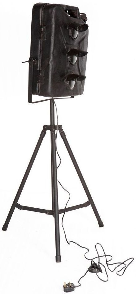 Indian Hub Iron Jerry Can Floor Lamp