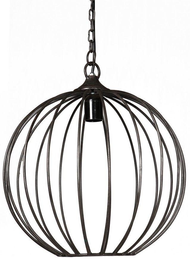 Indian Hub Iron Sphere Cage Hanging Lamp
