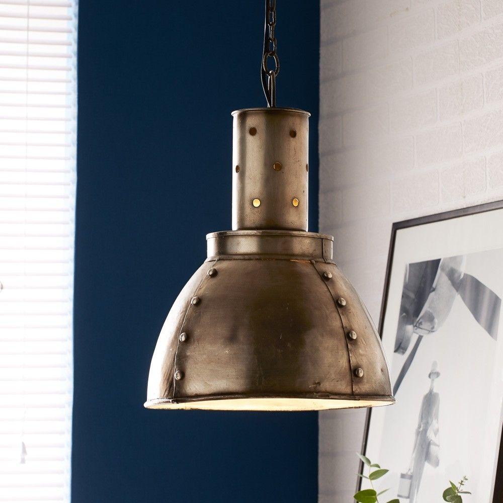 Product photograph showing Indian Hub Metallic Hanging Lamp