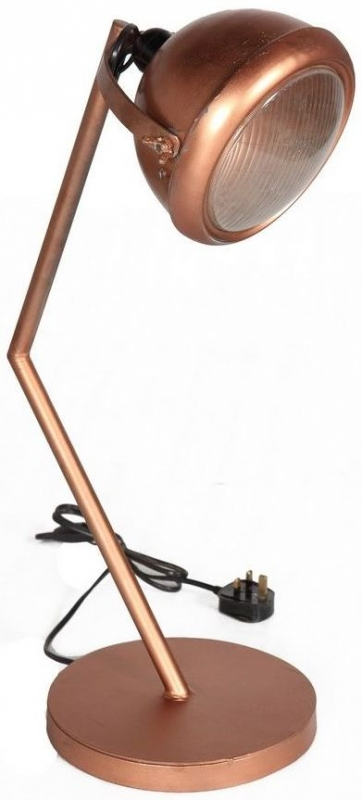Indian Hub Copper Lamp Stand