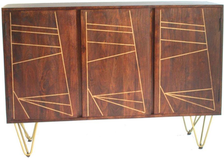 Indian Hub Mango Dark Gold Large Sideboard
