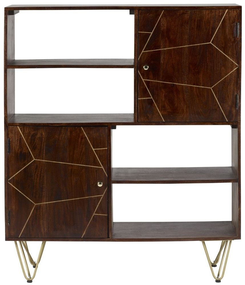 Indian Hub Mango Dark Gold Display Cabinet