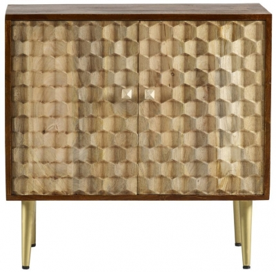 Indian Hub Mango Edison Two Tone Medium Sideboard
