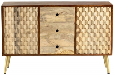 Indian Hub Mango Edison Two Tone Sideboard