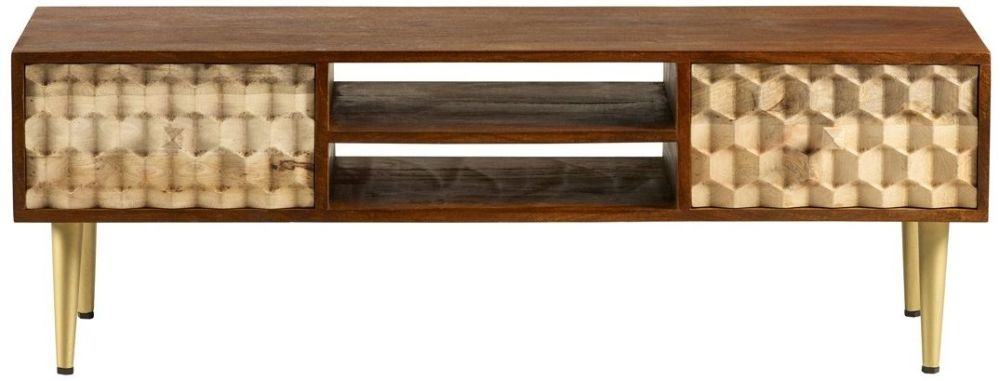 Indian Hub Mango Edison Two Tone Plasma TV Stand