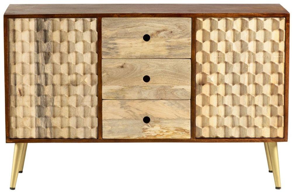 Indian Hub Mango Edison Two Tone Sideboard