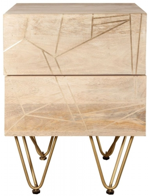 Indian Hub Mango Light Gold Side Table