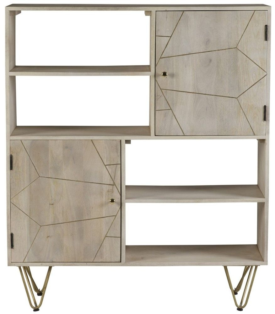 Indian Hub Mango Light Gold Display Cabinet