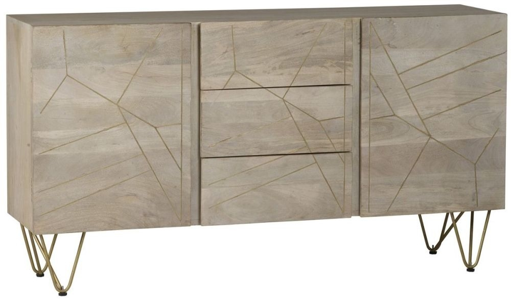 Indian Hub Mango Light Gold Extra Large Sideboard