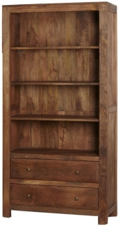 Indian Hub Manhattan Light Mango Bookcase - Large