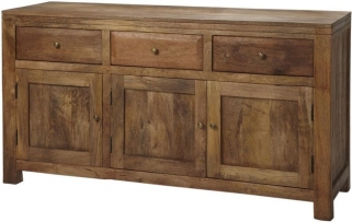 Indian Hub Manhattan Light Mango Sideboard - Large
