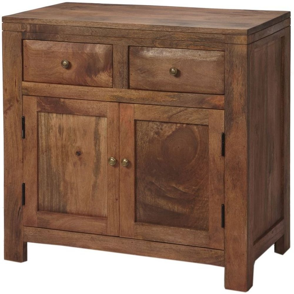 Buy indian hub manhattan light mango sideboard small for Sideboard indien