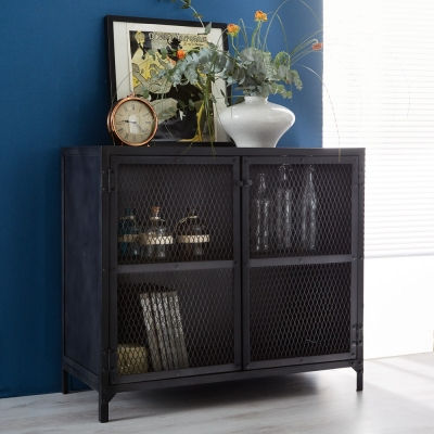 Indian Hub Metalica Dark Sideboard