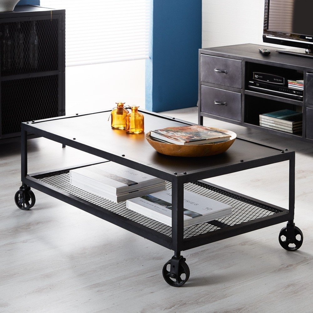 Indian Hub Metalica Dark Coffee Table