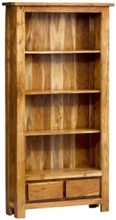 Indian Hub Metro Acacia Bookcase - Tall