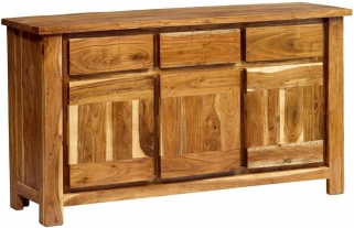 Indian Hub Metro Acacia Sideboard - 3 Doors 3 Drawers