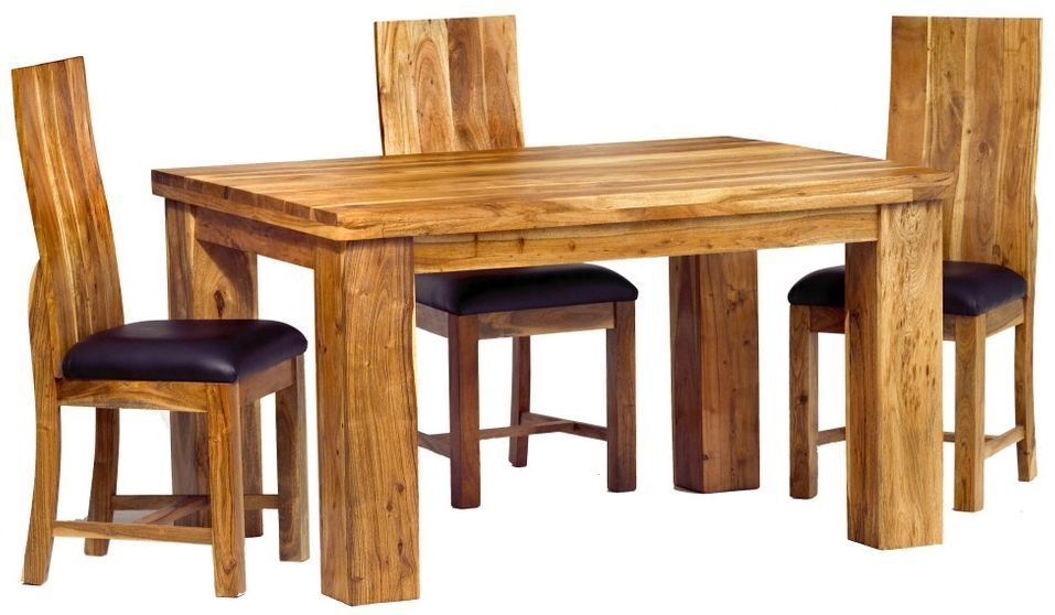 Indian Hub Metro Acacia Dining Table and 4 Chairs