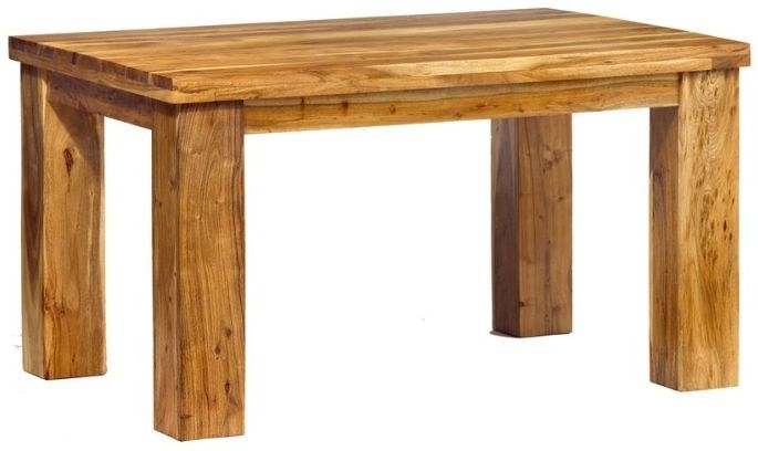 Indian Hub Metro Acacia Rectangular Dining Table - 140cm