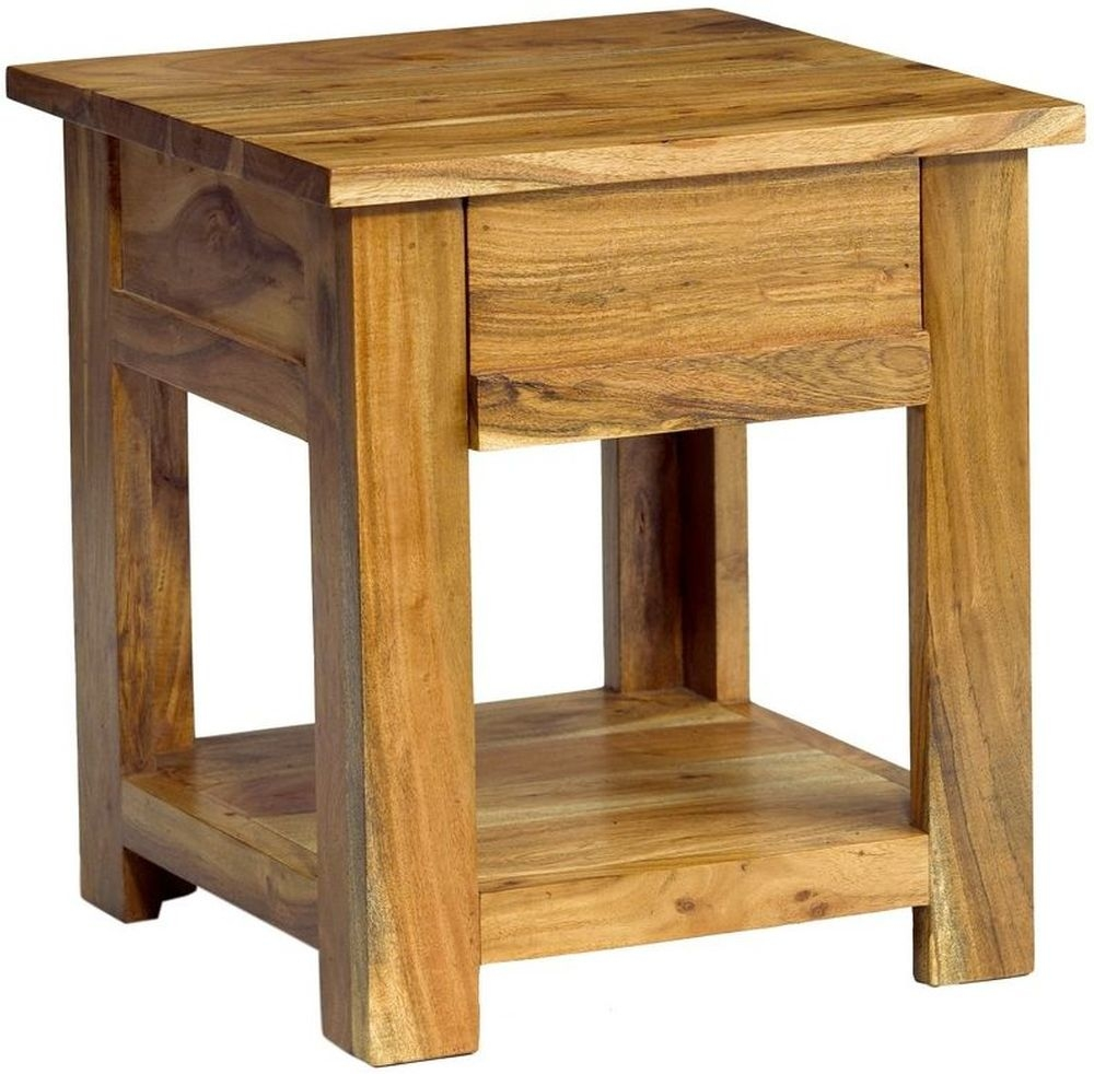 Indian Hub Metro Acacia End Table