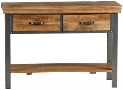 Indian Hub Metropolis Industrial Console Table