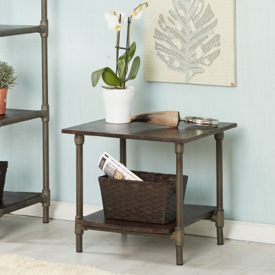 Indian Hub Santara Square End Table