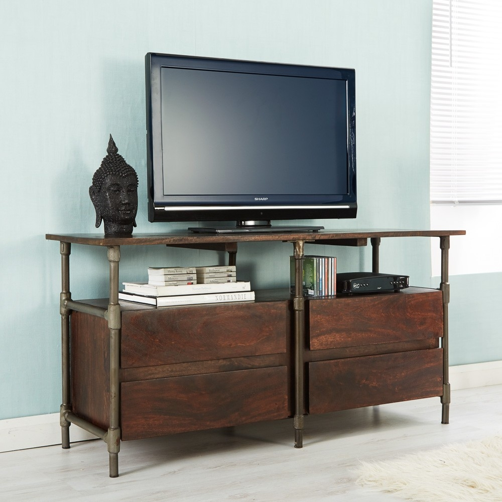 Indian Hub Santara 4 Drawer TV Cabinet
