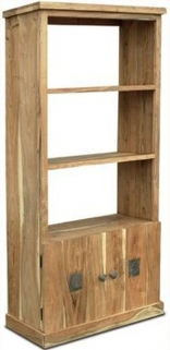 Indian Hub Slate Acacia Display Unit - 2 Door