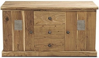 Indian Hub Slate Acacia Sideboard - Large