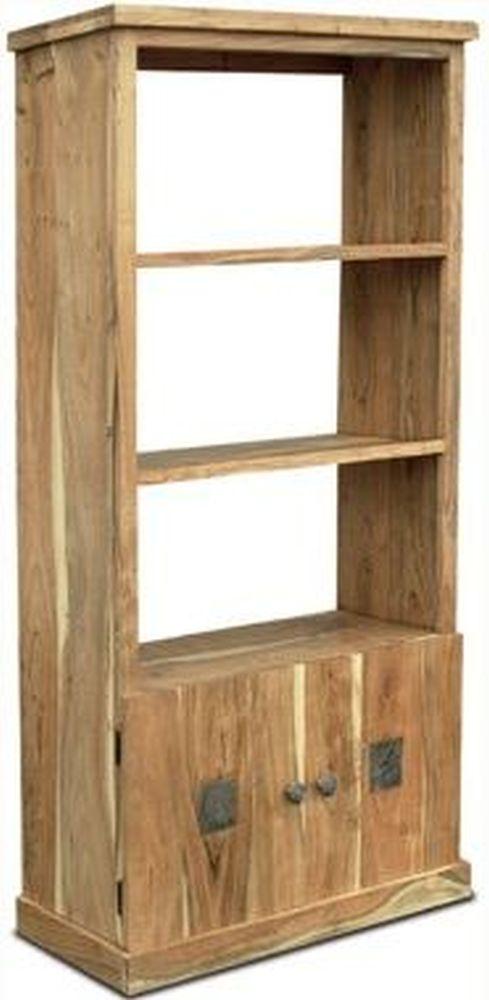 Indian Hub Slate Acacia Display Unit - 2 Door