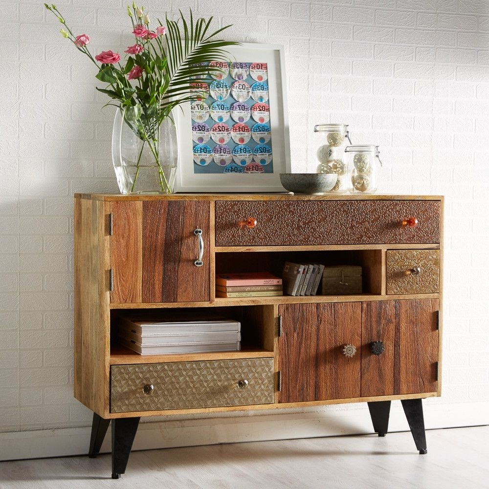 Indian Hub Sorio 3 Door 3 Drawer Small Sideboard