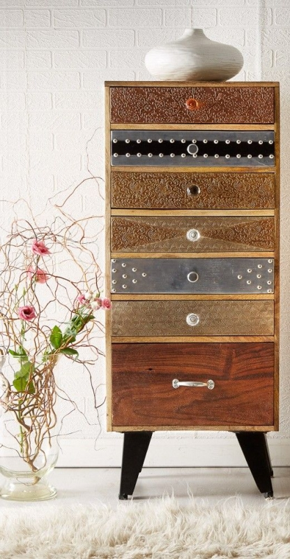 Indian Hub Sorio 7 Drawer Chest