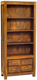 Indian Hub Stone Sheesham Bookcase - Large
