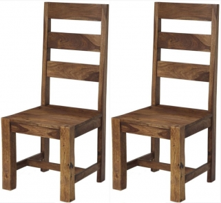 Indian Hub Stone Sheesham Dining Chair (Pair)