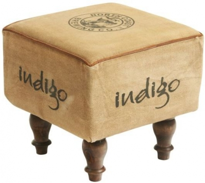 Indian Hub Ottoman Seeba Footstool