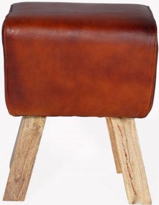 Indian Hub Turn Buck Genuine Leather Stool