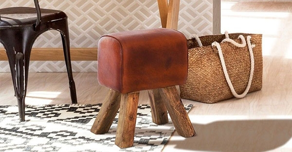 Indian Hub Stool and Bench