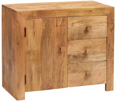 Indian Hub Toko Light Mango 3 Drawer Sideboard