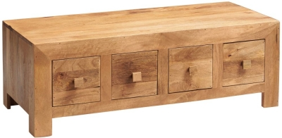 Indian Hub Toko Light Mango 8 Drawer Coffee Table