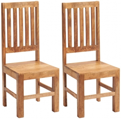 Indian Hub Toko Light Mango Dining Chair (Pair)