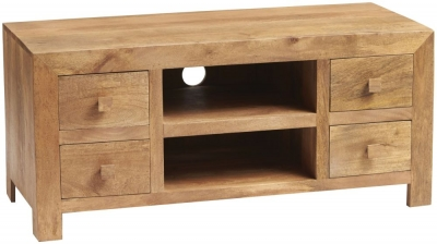 Indian Hub Toko Light Mango Plasma TV Cabinet