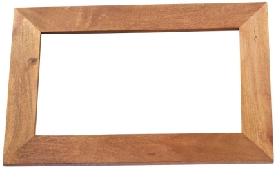 Indian Hub Toko Light Mango Solid Wood Frame Mirror - 90cm x 60cm